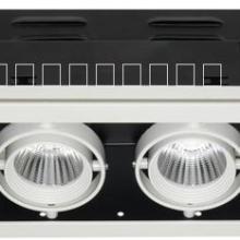 供应LED嵌入式格栅射灯2*9w图片