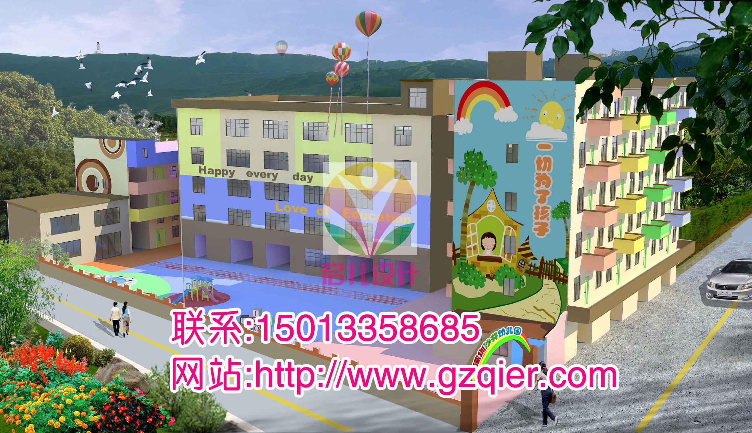 设计,幼儿园墙面的幼儿园外墙壁画喷绘彩绘专业设计