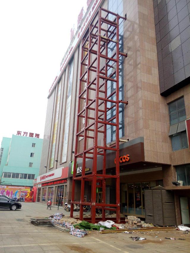 供应观光电梯钢结构井道/钢结构井道/河南电梯钢井道
