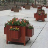 供应用于公共环卫设施的厂家直销-木制花箱03