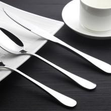 供应揭阳刀叉   优质光柄不锈钢叉子 大号加厚不锈钢餐叉 西餐叉 刀叉 酒店餐具