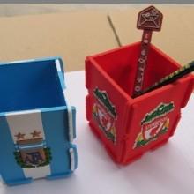 供应笔筒,pvc软胶笔拼图笔筒,微量射出笔筒订制