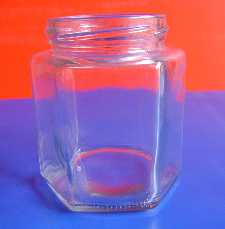 供应一斤装六棱蜂蜜瓶生产厂家定做价格