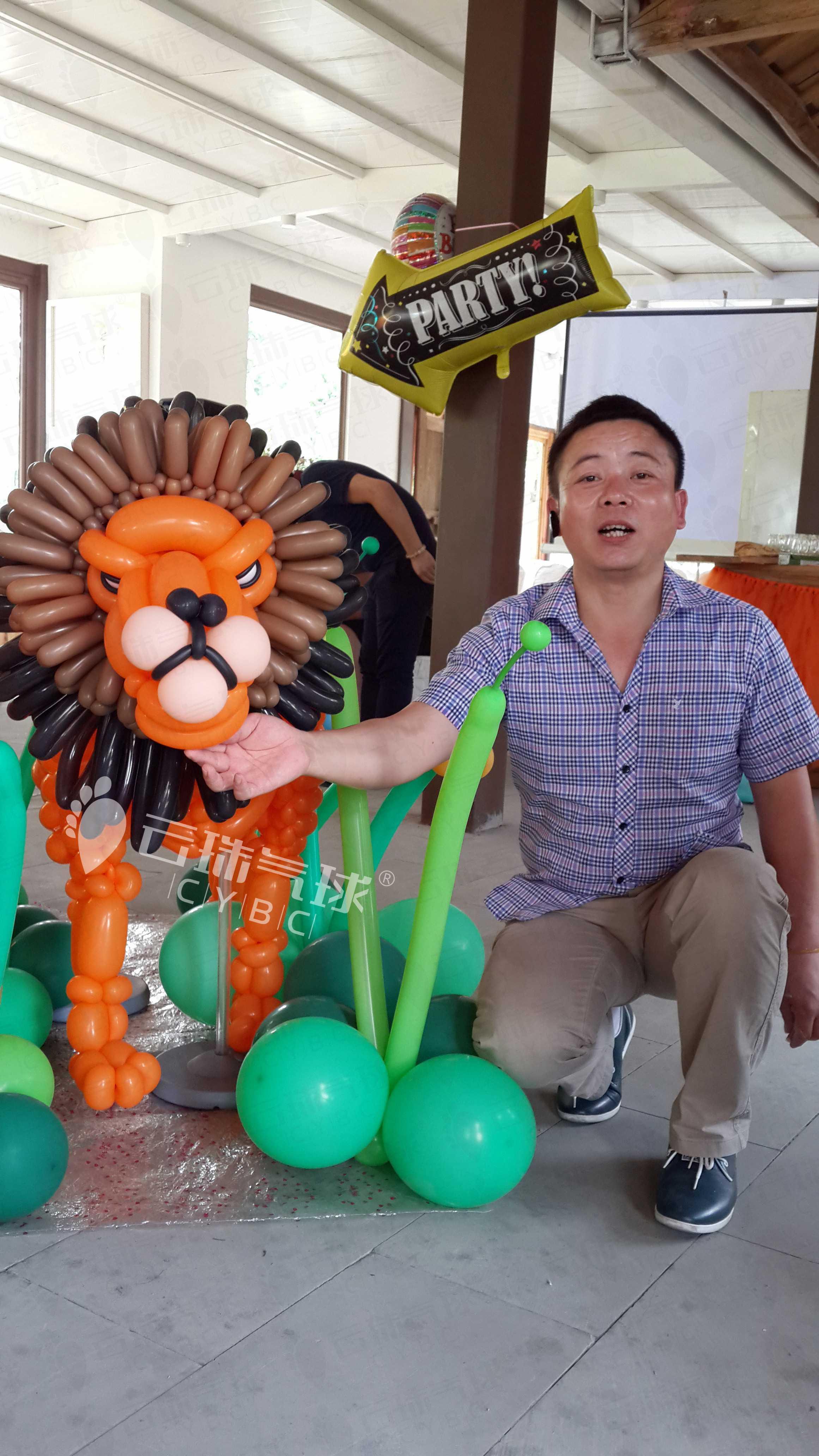 供应狮子气球/气球造型/成都气球狮子