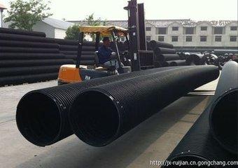 供应河北塑钢缠绕排水管厂家价格卡箍连