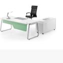 供应办公桌15上海办公家具时尚简约钢木结合主管桌经理桌现代大方财务桌