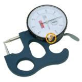 供应双圆球头指针管厚仪百分管壁厚度规0-10mm0.01mm电子测量厚度表