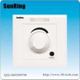 深圳对讲厂家供应SunRing病房电视伴音系统旋钮调音病房电视声音床头分机TS-A