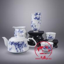 供应景德镇手绘陶瓷茶具,高档办公居家日用茶具批发