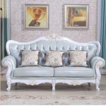 供应郑州酒店会所欧式实木沙发组合定制客厅高档美式新古典沙发简约  郑州酒店会所欧式实木沙发