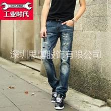 供应用于穿着的连州男士修身牛仔裤思博款式新颖,批发