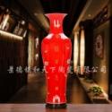 景德镇瓷器 青花瓷手绘 落地大花瓶图片