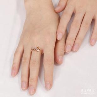 18K玫瑰金钻石戒指|价格:2096图片