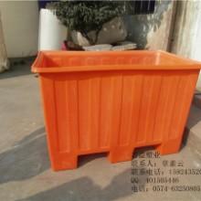 大量批发带叉车槽的方桶 塑料运输桶