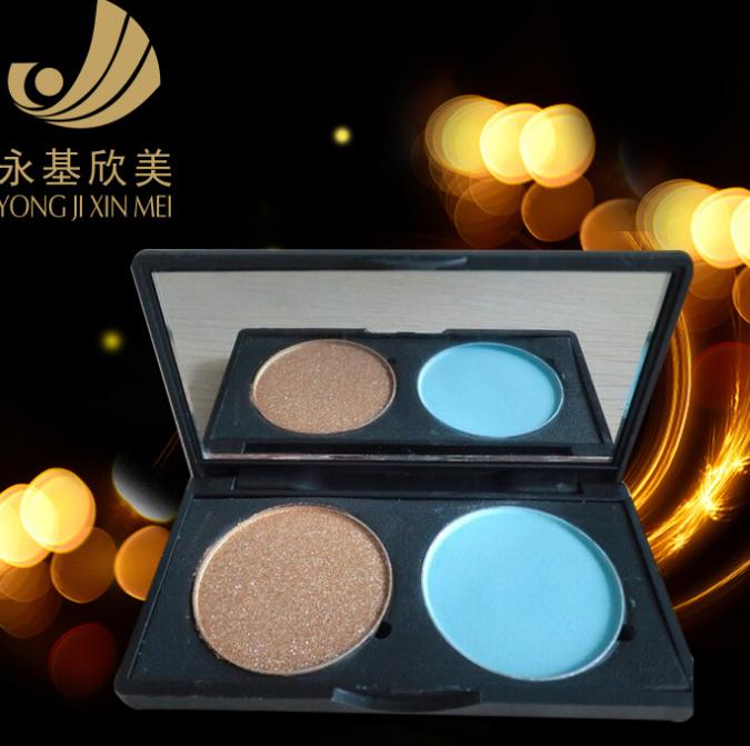 供应用于眼部彩妆的双色眼影 大地色系防水珠光亚光