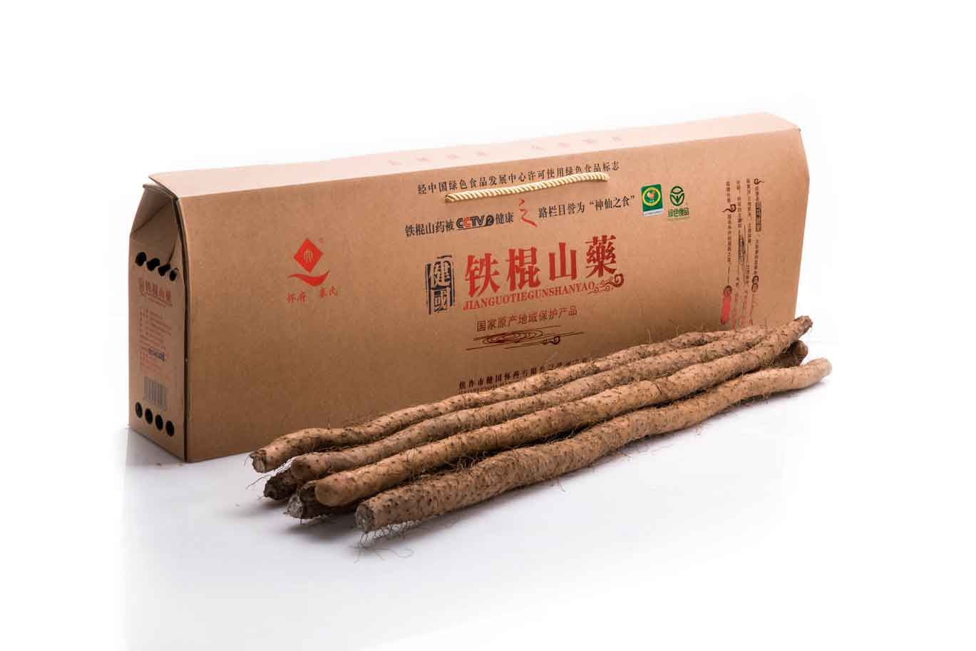 供应用于保健食材的健国怀药6斤铁棍山药礼盒包装