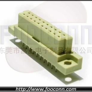 DIN41612欧式插座264 90度插板母座图片