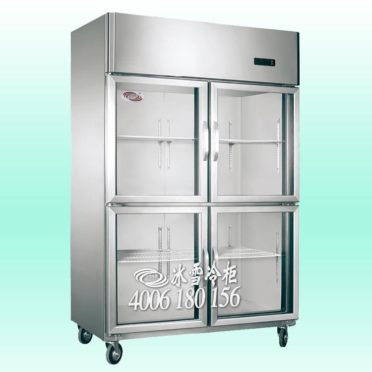 供应酒楼玻璃厨房柜立式四门不锈钢玻璃门柜鲜肉食品冷藏保鲜展示柜鲜摆放冷藏保湿展示柜冰雪批发中