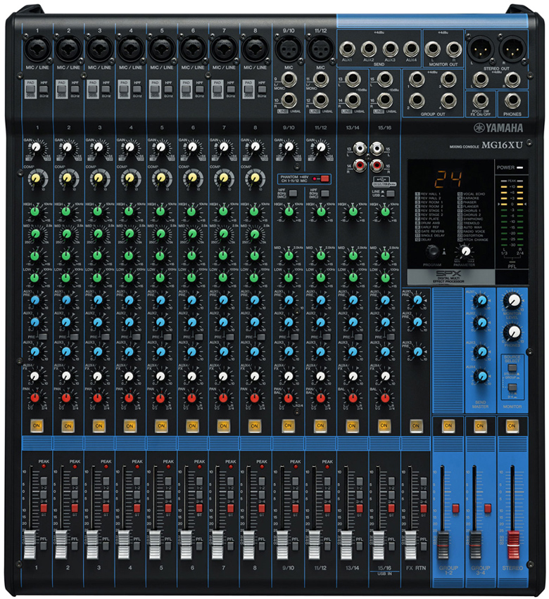 Yamaha Mg124c 调音台_调音台供货商_供应雅马哈MG166C-USB录音调音台 ...