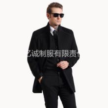 供应亿诚ZY7立领西装单排扣男士毛大衣呢子外套男冬季新款中长款批发
