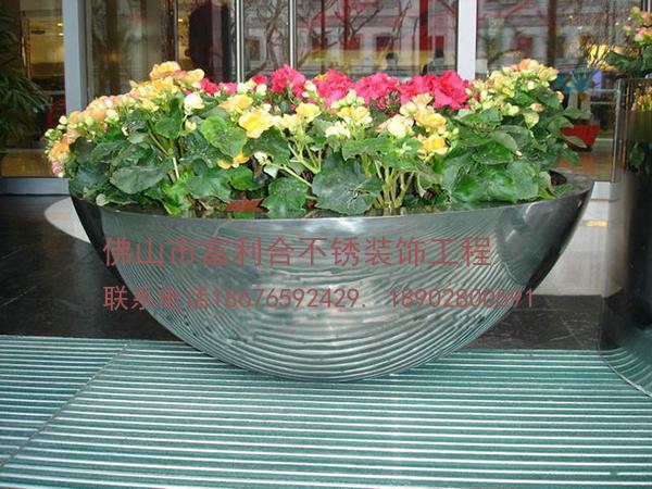 供应圆柱形不锈钢花盆 圆锥形不锈钢花