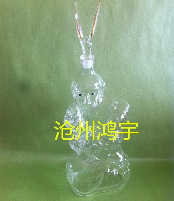 生肖猴酒瓶艺术摆件玻璃工艺酒瓶价格