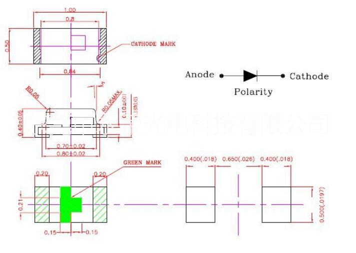 供应用于指示灯 贴片0402红灯 发光二极管 smd led 广东 东莞 生产