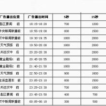 汉中电视台游飞字幕广告价格批发