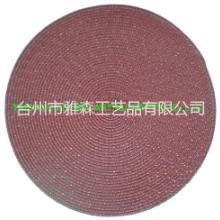 供应厂家供应 绿色餐垫 圆形餐垫  YS-PP2080R