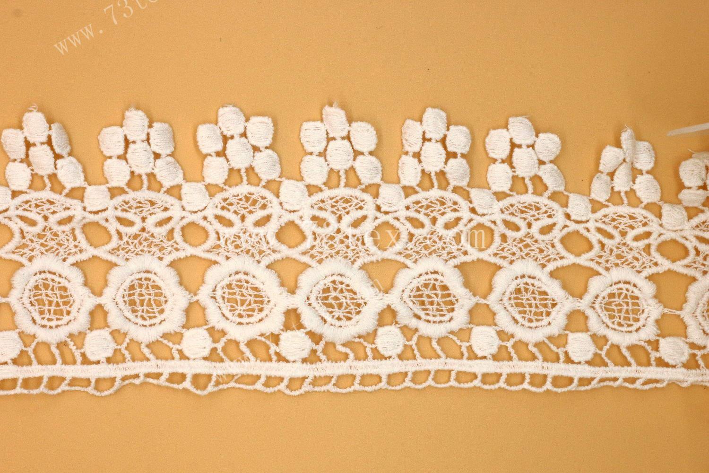 供应用于服装家纺的水溶刺绣花边棉线花边内衣花边
