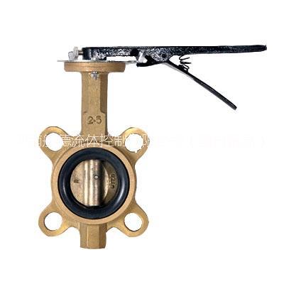 供应全铜手柄对夹蝶阀 d71x-16t/d71x-16t-dn100价格图片