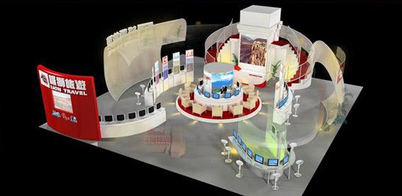 供应用于设计搭建的厦门投洽会展位布置图片