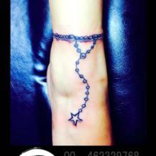 脚链纹身女生纹身台州刺青图片