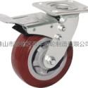 奔宇脚轮重型超级聚氨酯带刹轮图片