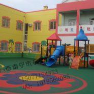 广西南宁幼儿园户外防滑塑胶跑道图片