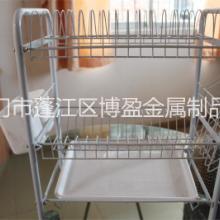 供应三层置物架不锈钢碗碟架促销批发