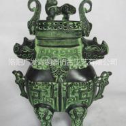 青铜器双牛熏炉仿古工艺礼品图片