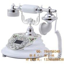 供应陶瓷电话机复古田园可爱时尚创意家用高档欧式座机复古老式电话机蓝牙批发