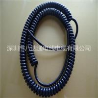 定制pu弹簧线 TPU螺旋线 卷线厂家 高弹电话线 pu弹簧线 TPU电话线 螺旋线