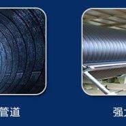 蓝田钢带增强聚乙烯螺旋波纹管图片