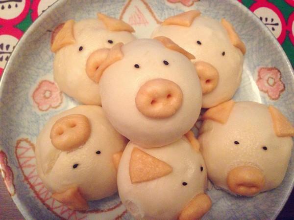 小猪馒头做法,小猪形状的馒头制作