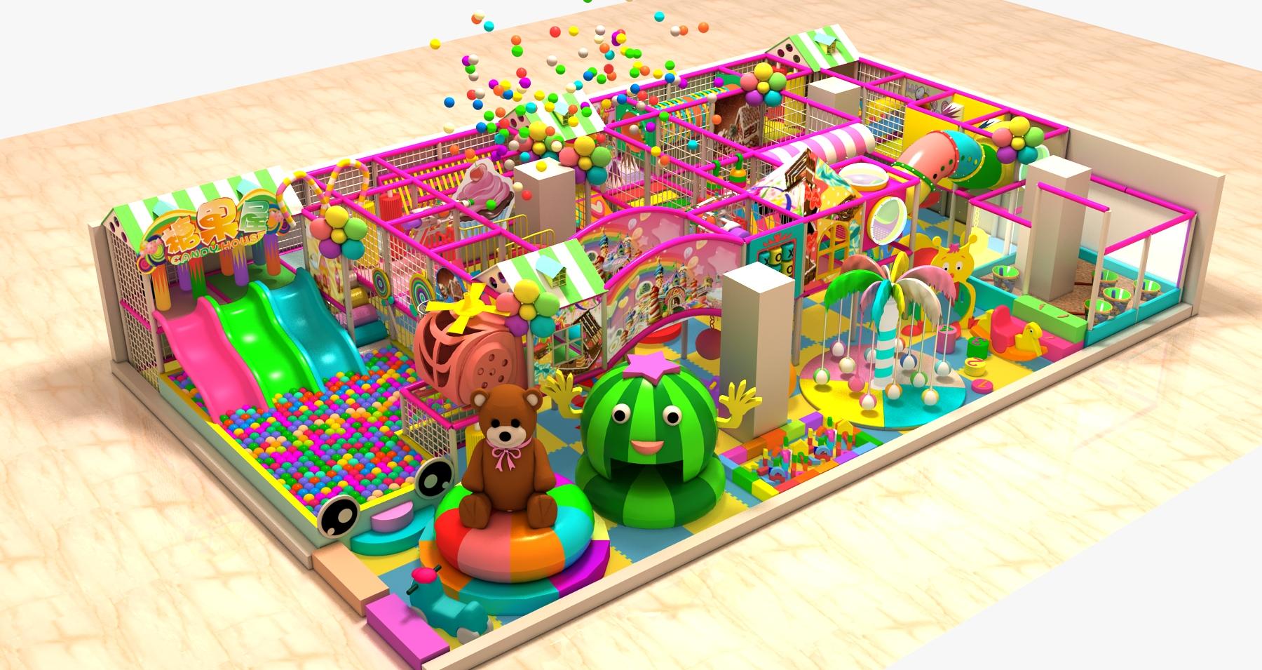 淘气堡   又称【孩子堡】,是根据儿童喜欢的特征设计,通过科学的立体组合,形成的一个集游乐、运动、益智 、健身等功能为一体的新一代少年儿童活动中心。可以说它是一座新型的、综合性极强的儿童乐园,是针对儿童喜欢钻、爬、滑、滚、晃、荡、跳、摇等天性设计的。儿童在玩的同时能培养独立的个性、锻炼身体、健脑益智。淘气堡无论是户内外,还是不规则的场地,均能安装,管理简单,无动力设备,维修方便。淘气堡具有随意性、无动力、互动性和安全性的特点,随意性指的是它不受场地的限制,无动力性指淘气堡无需任何动力装置即可运营,无形之中