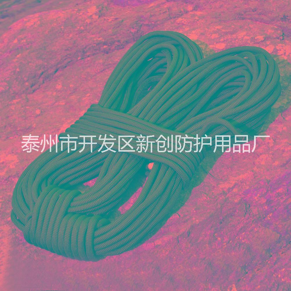 【苏安】供应攀岩绳厂家国标10.5mm 高强度登山绳静力绳 安全逃生绳纯黑色