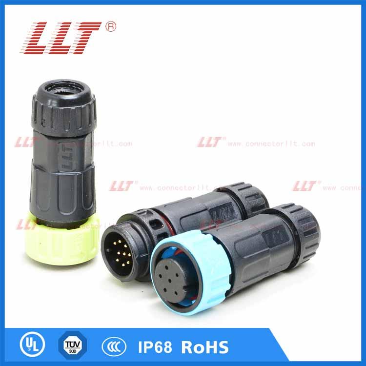 供应M19LED自锁连接器接头/M19防水插头,M19传感器连接器,M19面板防水接头,利路通厂家直销