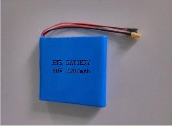 供应60V-2.2AH锂离子电池组,18650锂电池组,电动平衡车电池、自平衡思维车锂电池