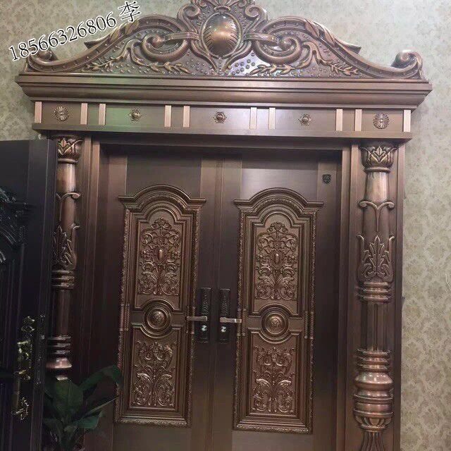 广州别墅铜门、工程铜门订做-聚福龙铜门厂