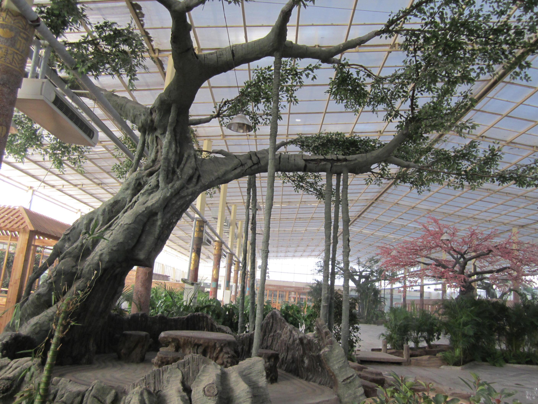 苏州假树大门工程专业定制|江苏假树大门市场价格|水泥假树大门价格