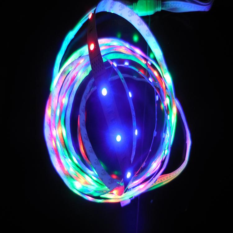 供应LED游艺机专用5050跑马七彩软灯条