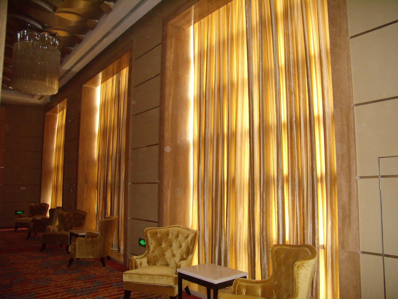 苏州电动窗帘酒店窗帘面料电动开合帘面料