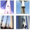 风场塔筒补漆、塔筒写字、塔筒清洗图片